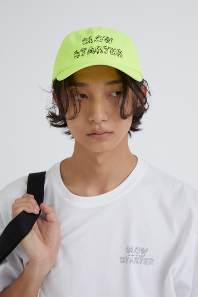 [이광수 착용] OUTLINE SLOW STARTER BALLCAP NEON YELLOW_M19AAC005NY