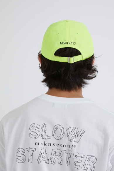 OUTLINE SLOW STARTER OVERSIZED SS T-SHIRT WHITE_M19BST008WH