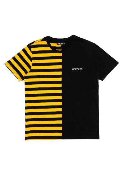 [은지원 착용] HALF STRIPE SS T-SHIRT YELLOW/BLACK