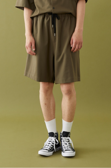 M LOGO LOOSE FIT SHORTS KHAKI