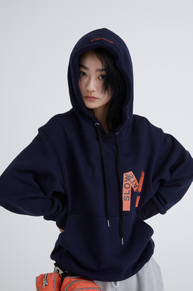 M TAPE HOODY NAVY_M19AHD004NV