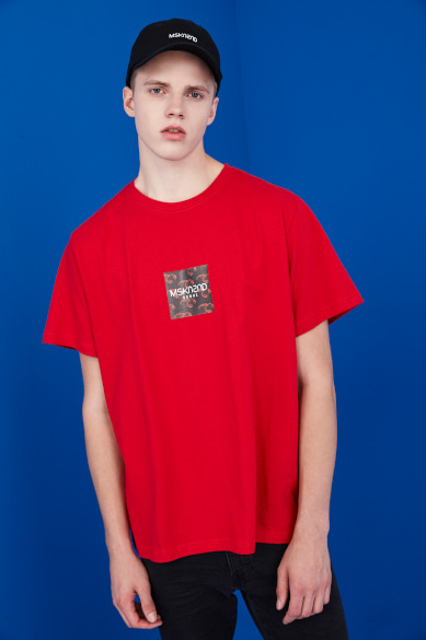 LOBSTER BOX LOGO SS T-SHIRT RED