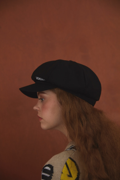 [양세형, 유이 착용] MSKN2ND LOGO NEWSBOY CAP BLACK