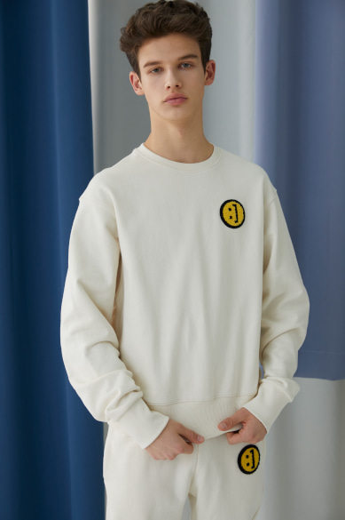 SM:]E PATCH SWEATSHIRT IVORY