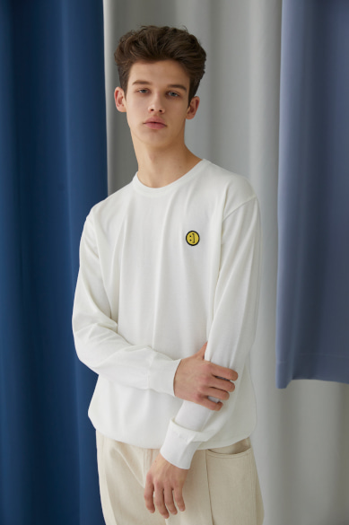 SM:]E PATCH SWEATER OFF WHITE