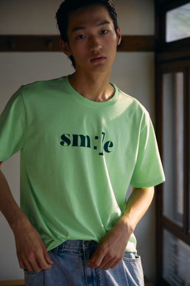 SM:]E PRINTED T-SHIRT NEON GREEN