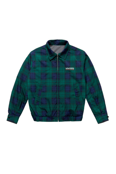 LENTICULAR PATCH REVERSIBLE BLOUSON GREEN CHECK