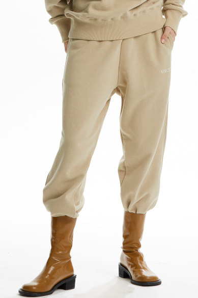 MSKN2ND LOGO SWEATPANTS BEIGE
