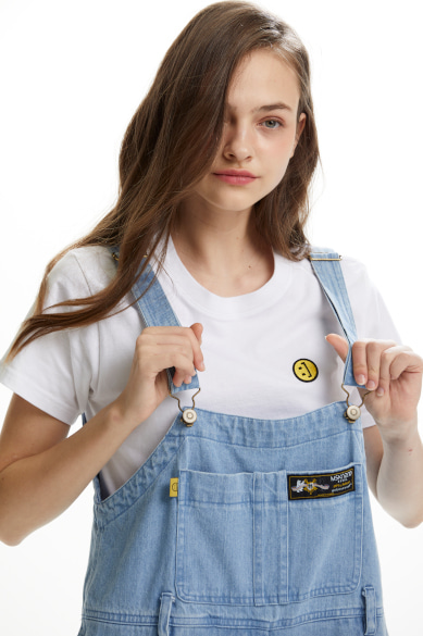 DENIM OVERALLS LIGHT BLUE
